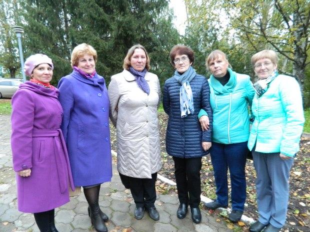 Коллектив библиотеки с дочерью Н. Рубцова - Еленой Николаевной